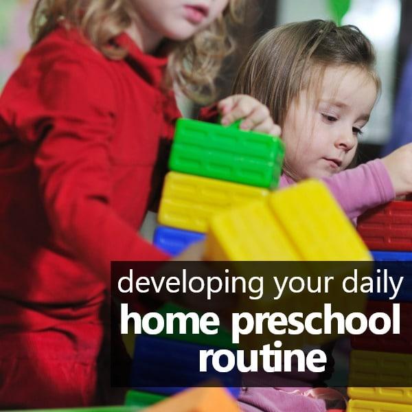 square-daily home preschool routine