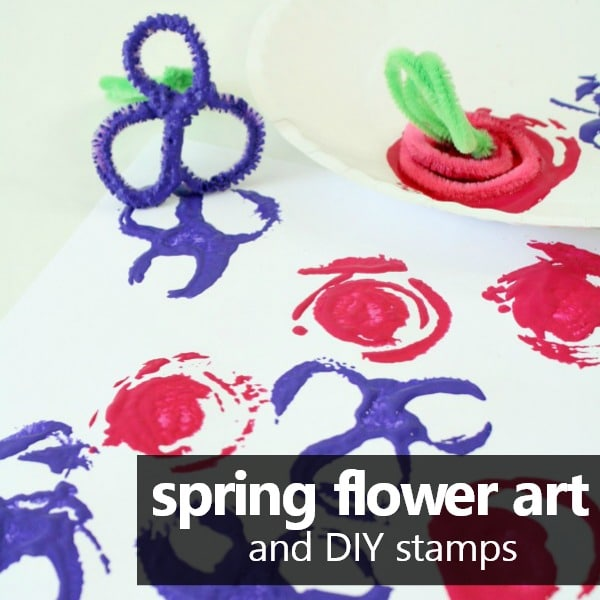 flower stamps for kids art project