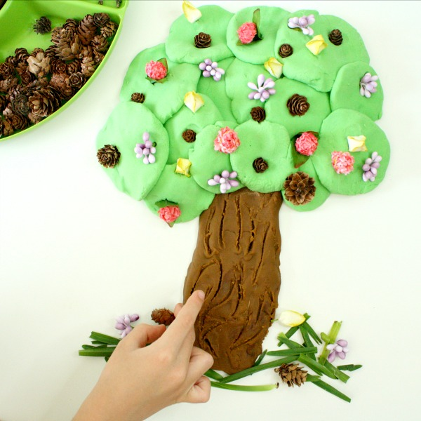 square-spring tree play dough