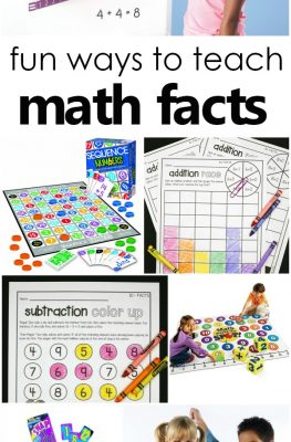 Fun ways to teach math facts-Math fact games, addition and subtraction fact activities for first grade and second grade