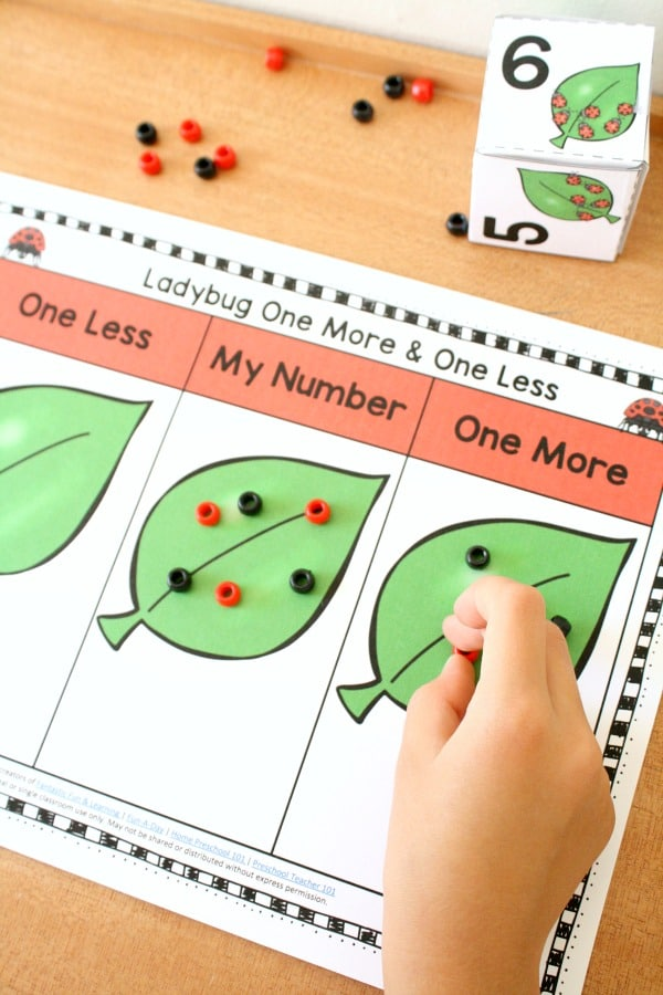 Ladybug Number Sense Math Freebie for Preschool and Kindergarten