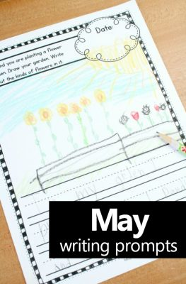 May Writing Journal Prompt Ideas-Preschool and Kindergarten writing prompts #preschool #kindergarten #journalprompts