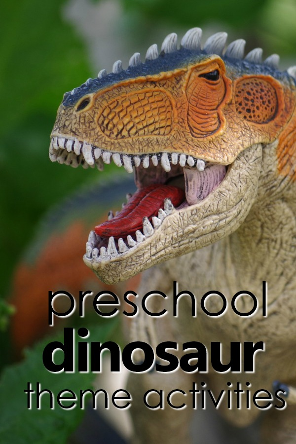 Preschool Dinosaur Theme Activities-Lesson plans, printables, hands-on activities, videos and more #preschool #dinosaur #prek