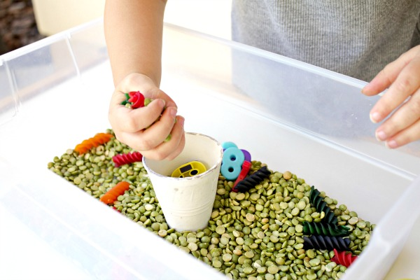 preschool caterpillar sensory play