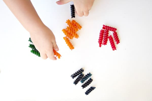 caterpillar math sorting by color