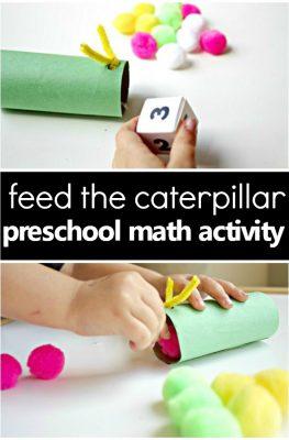 Feed the Caterpillar Spring Math Activity