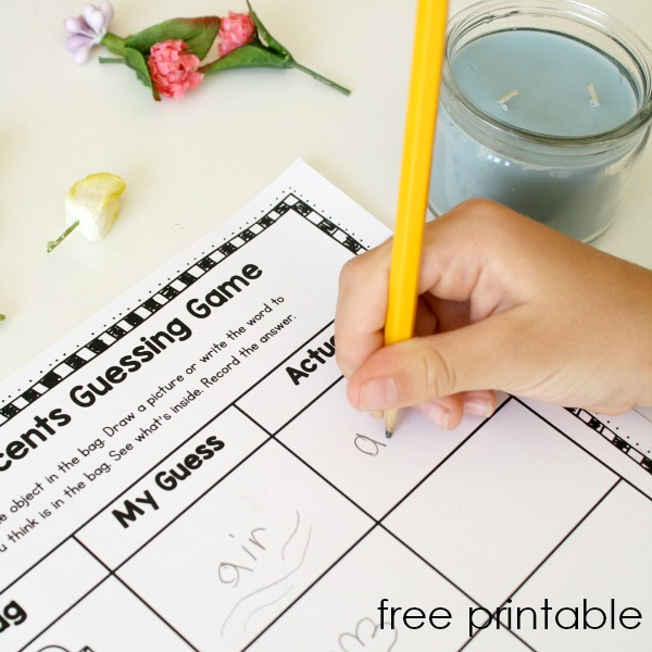 free printable spring scents science activity