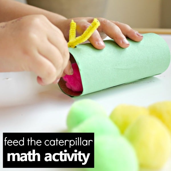 Feed the Caterpillar Math Activity