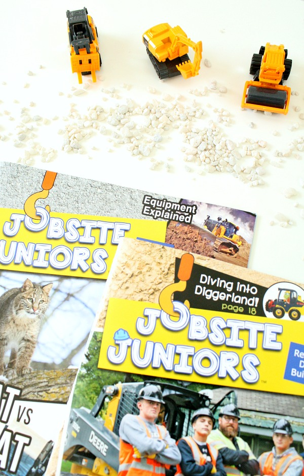 Jobsite Juniors Magazine for Kids-Constructions Site Slime Sensory Play