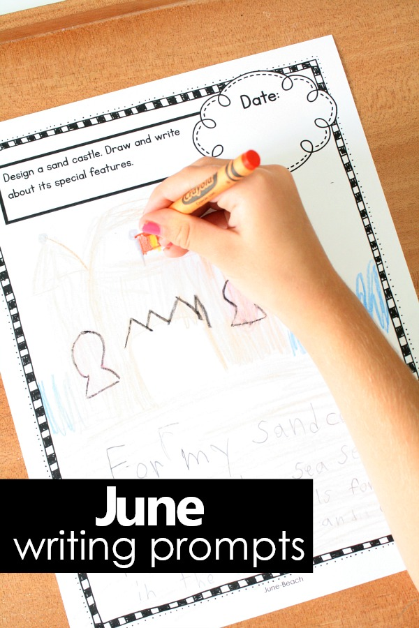 June Writing Prompts perfect for summer writing in preschool and kindergarten