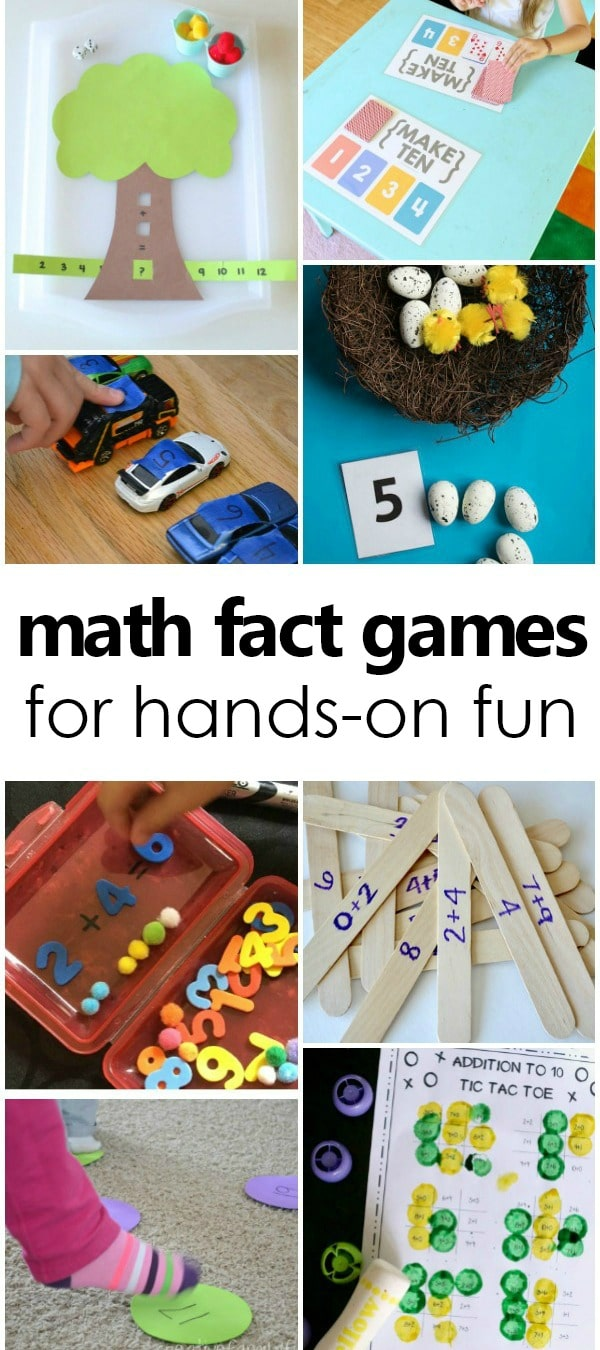 Math Fact Games and Activities for kindergarten and first grade #firstgrade #mathfacts #subtraction