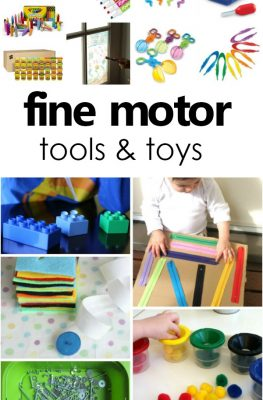 Tools and Toys for Developing Fine Motor Skills-All the best writing tools, toys, and games for playfully building fine motor skills in toddlers and preschoolers #finemotor #toddler #preschool