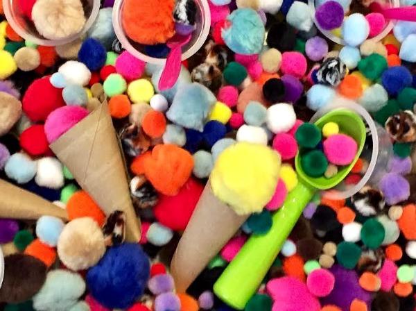 easy ice cream sensory bin
