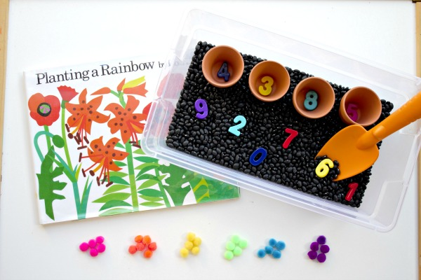 Planting a Rainbow Preschool Math and Sensory Play