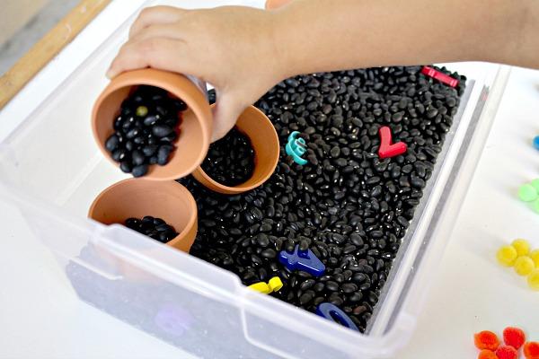 Pouring -Garden Theme for Preschool