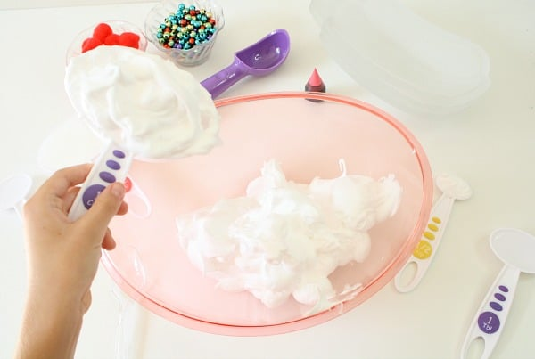 Materials for Strawberry Ice Cream Slime