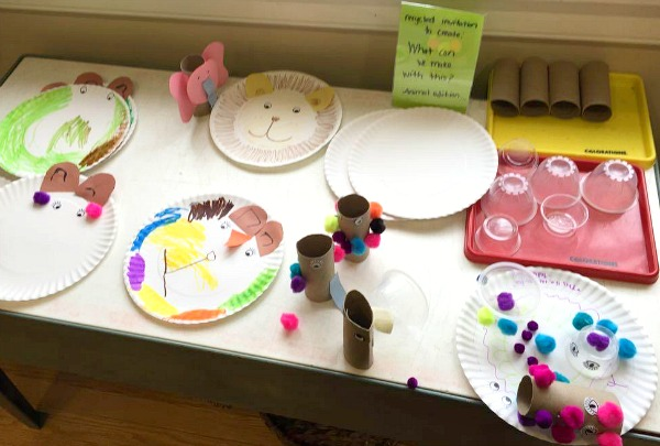 Paper Plate Animal Art with Recycled Materials