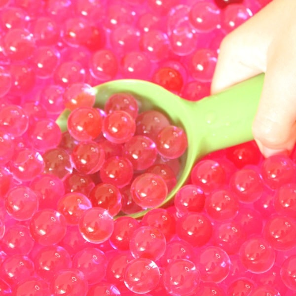 Water Bead Scooping and Play for Toddlers