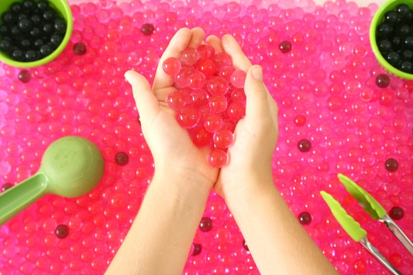 Watermelon theme sensory play activity