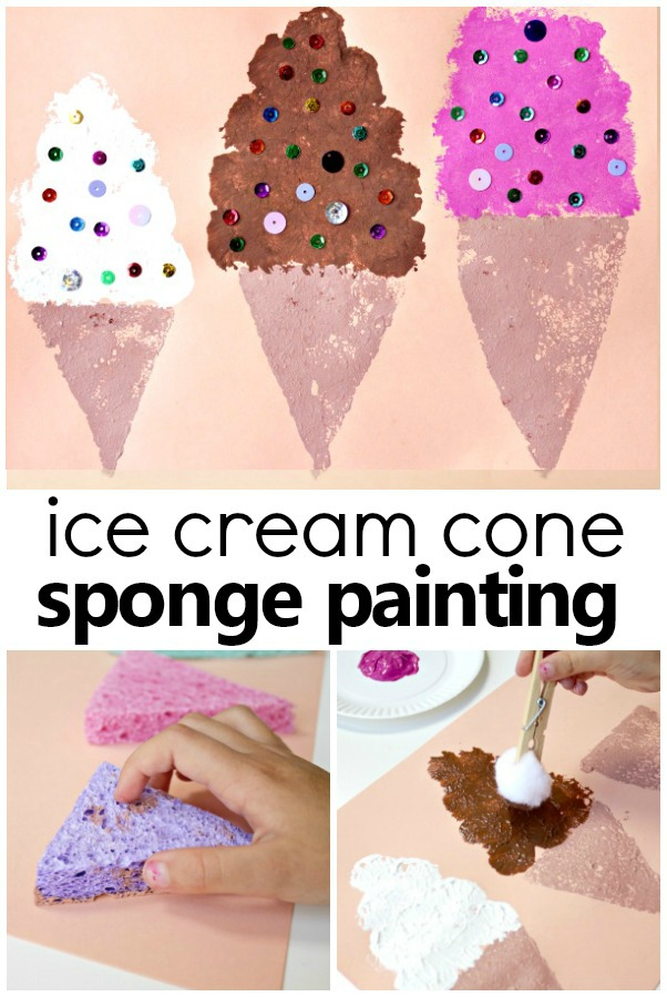 Ice Cream Craft for Kids #preschool #kidart #kidsactivities