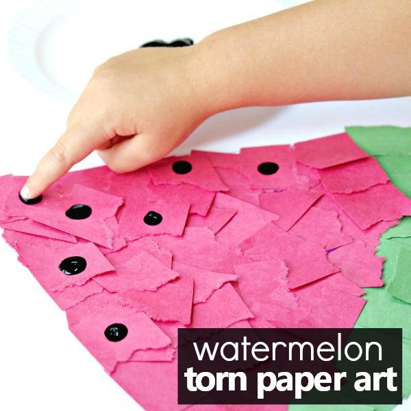 Torn Paper Watermelon Art Project