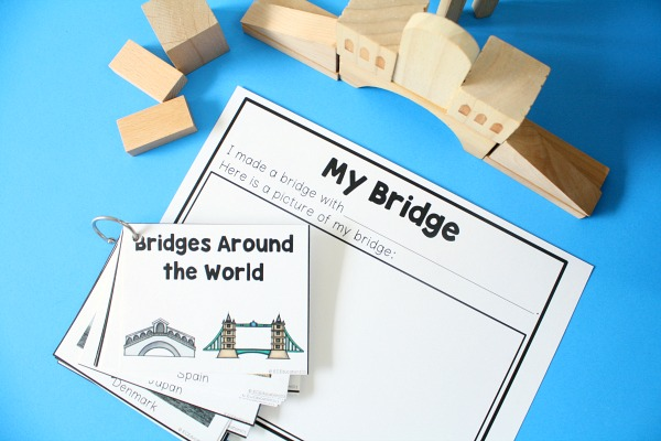 Bridge Building STEM Activity for Preschool Block Center