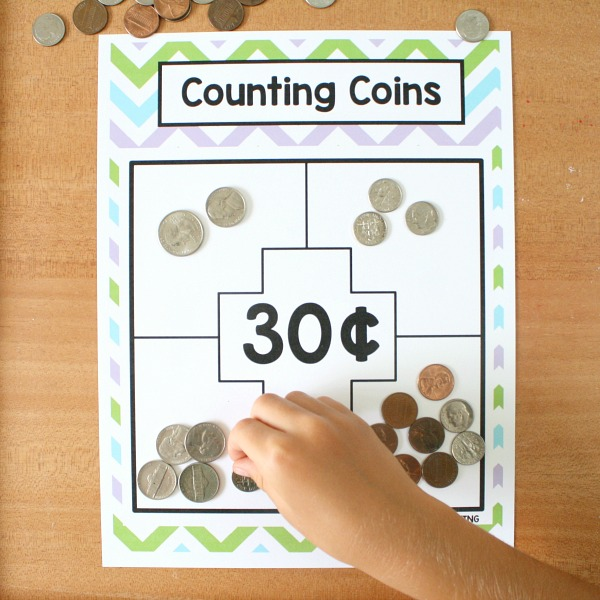Money Math Game-Counting Coins for 1st Grade