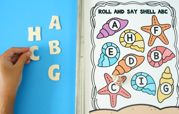 Preschool Alphabet Game for Summer Ocean Theme
