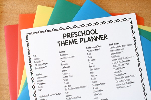 the preschool classroom theme planner has been newly updated for 2018 so even if youve printed it before youll want to grab a new copy