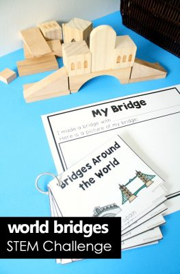 World Bridges STEM Challenge Cards and Recording Plans #preschool #kindergarten #STEM