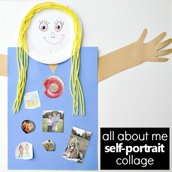 All About Me Self-Portrait -Preschool Favorites and Get to Know You Activity for Back to School
