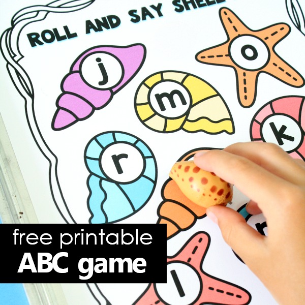 Summer ABC game for preschool and kindergarten