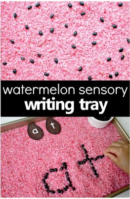 Watermelon Sensory Writing Tray