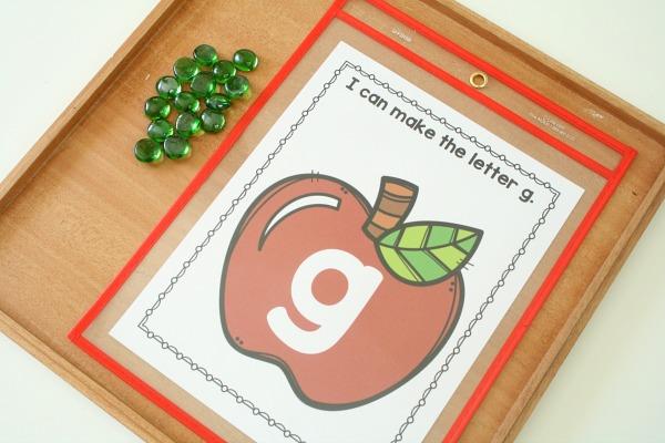Apple Theme Preschool Alphabet Printables