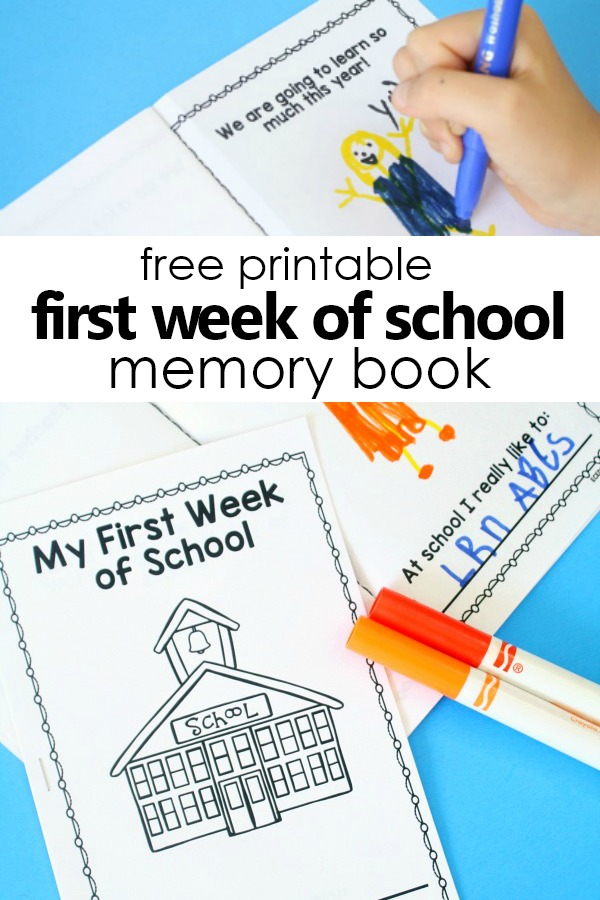 Free Printable First Week of School Memory Book #prek #freebie #preschool #backtoschool