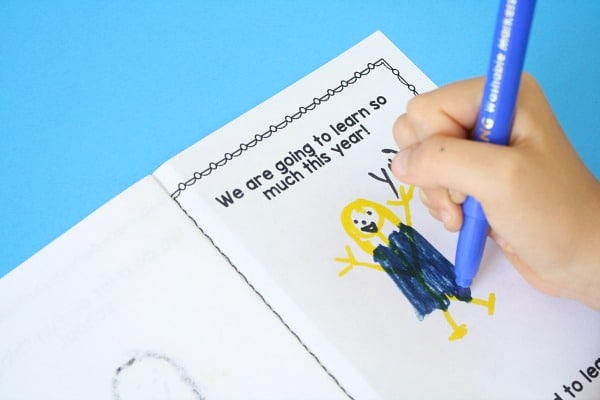 Free Printable First Week of School Writing Activity for Preschool and Kindergarten