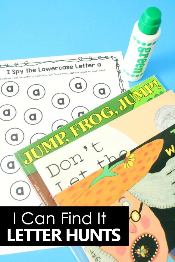 I Can Find It! Preschool and Kindergarten Alphabet Activities-Letter Hunts in Picture Books #preschool #kindergarten #alphabet