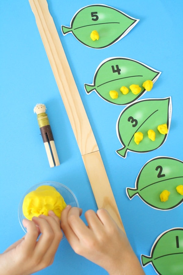 Jack and the Beanstalk Play Dough Math Game