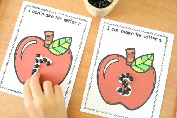 Pre-writing Activities for Preschool-Apple Theme
