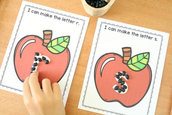 Pre-writing Activities for Preschool-Apple Theme