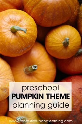 Preschool Pumpkin Theme Activities-Planning guide for preschool pumpkin theme lesson plans #preschool #fall #pumpkins