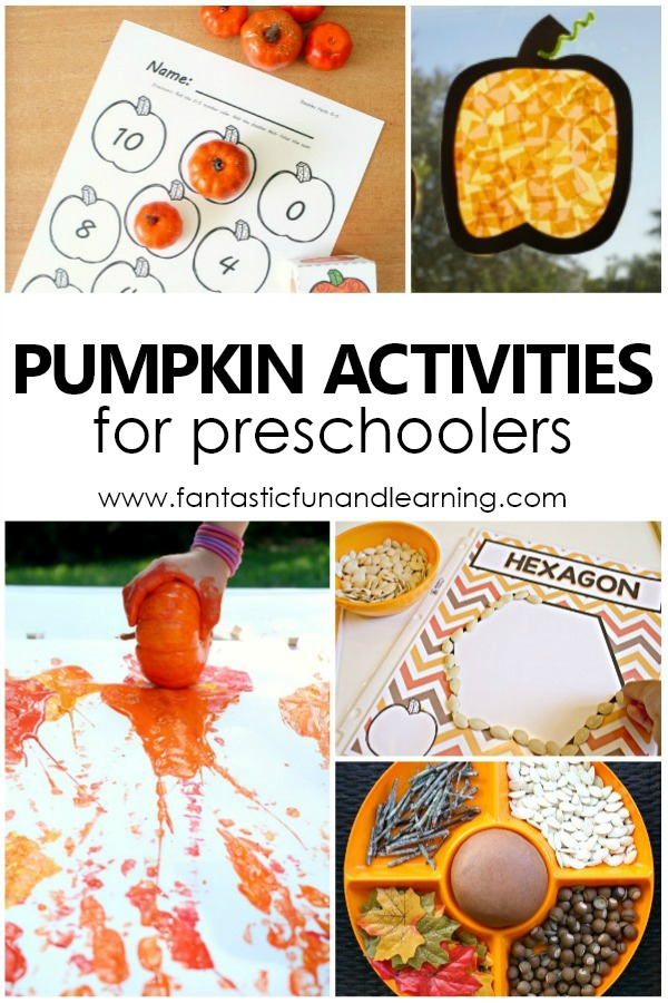 Pumpkin Activities and Lesson Plans for Preschoolers #lessonplans #preschool #pumpkins