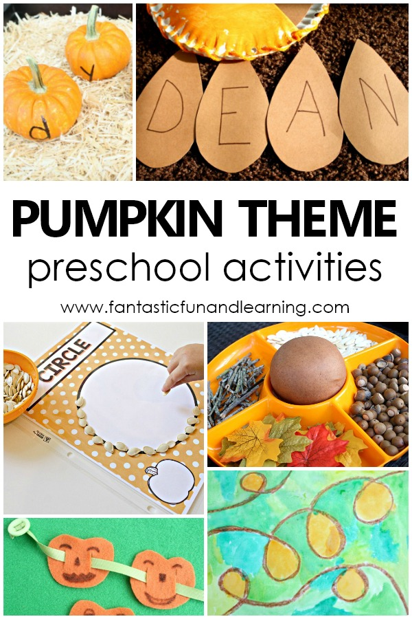 Pumpkin Theme Preschool Activities #preschool #autumn #prek