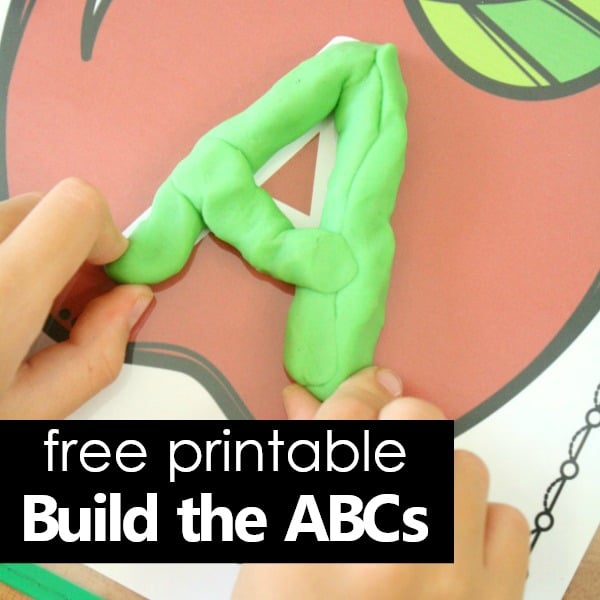 Square-Free ABC mats with play dough