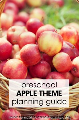Preschool Apple Theme Lesson Planning Guide #preschool #fall #apples #kidsactivities