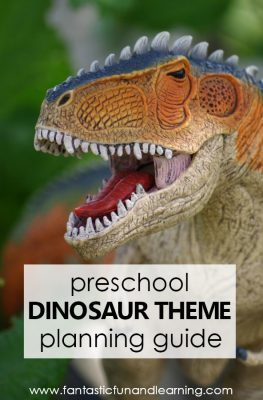 Preschool Dinosaur Theme Lesson Planning Guide #preschool