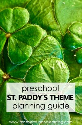Preschool St. Patrick's Day Theme Lesson Planning Guide #preschool #Stpatricksday #kids