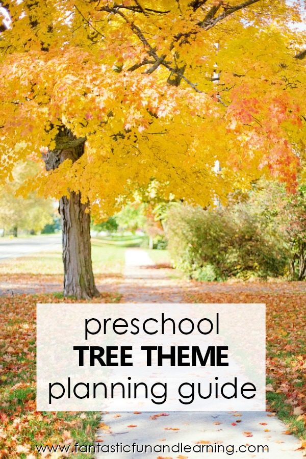Preschool Tree Theme Lesson Planning Guide #preschool