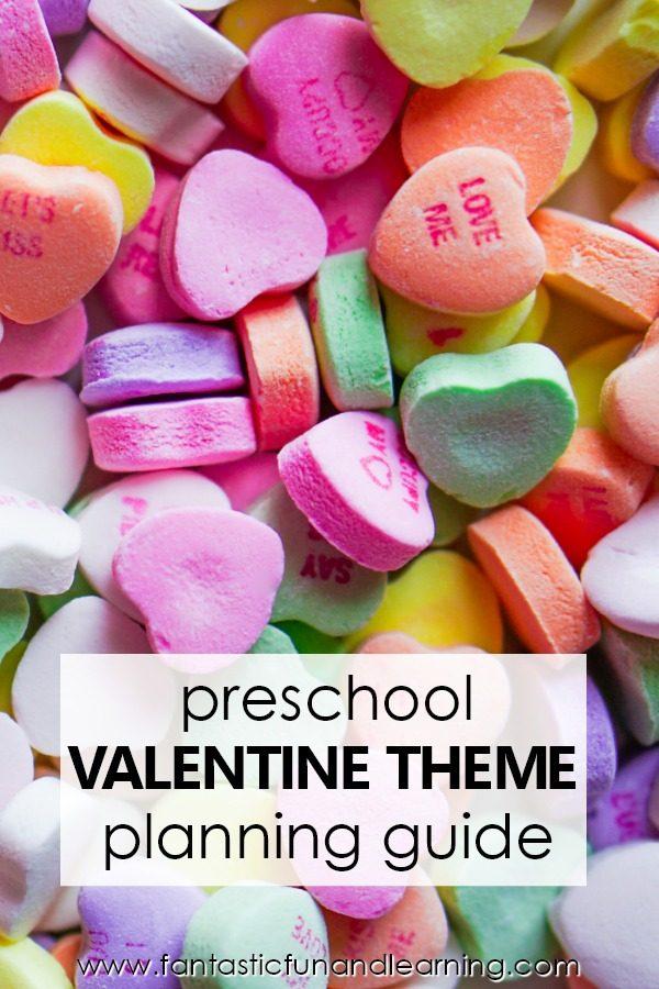 Preschool Valentine's Day Theme Lesson Planning Guide #preschool