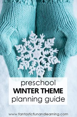 Preschool Winter Theme Lesson Planning Guide #preschool